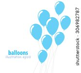 background with balloons  party ... | Shutterstock .eps vector #306982787