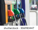 fuel oil gasoline dispenser at... | Shutterstock . vector #306983447