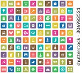 holiday 100 icons universal set ... | Shutterstock .eps vector #306983531