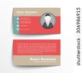 modern simple business card set ... | Shutterstock .eps vector #306986915