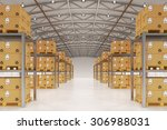 distribution warehouse... | Shutterstock . vector #306988031