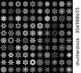 set of snowflakes isolated on... | Shutterstock . vector #306988655