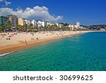 lloret de mar beach costa brava ...   Shutterstock . vector #30699625