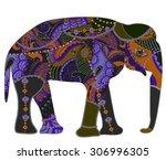 vector illustration  patterned... | Shutterstock . vector #306996305