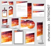 technology corporate identity... | Shutterstock .eps vector #307002407