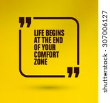 framed quote on yellow... | Shutterstock .eps vector #307006127