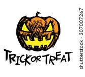 halloween jack o lantern... | Shutterstock .eps vector #307007267