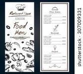 food menu pizza ingredients... | Shutterstock .eps vector #307009331