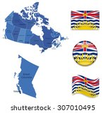 canada british columbia map and ... | Shutterstock .eps vector #307010495