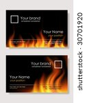 Vector. Fire Business Cards