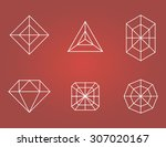 set of flat diamonds icons.... | Shutterstock .eps vector #307020167