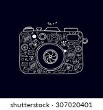 vector doodle illustration of... | Shutterstock .eps vector #307020401