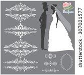 vector illustration of a set of ...   Shutterstock .eps vector #307021577
