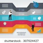 business concept template | Shutterstock .eps vector #307024427