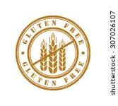 gluten free grunge retro...   Shutterstock .eps vector #307026107