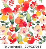 seamless pattern with beautiful ... | Shutterstock . vector #307027055