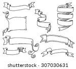 hand drawn banner doodles | Shutterstock .eps vector #307030631