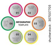 infographic template. 6 steps ... | Shutterstock .eps vector #307037705