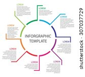 infographic template. report... | Shutterstock .eps vector #307037729