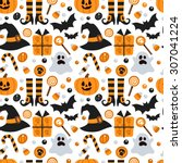 vector seamless pattern for... | Shutterstock .eps vector #307041224