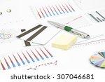 business still life of a pen ... | Shutterstock . vector #307046681