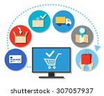 purchases  purchases over the...   Shutterstock .eps vector #307057937