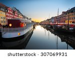 Ships In Nyhavn At Sunset ...