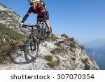 Moutainbike Uphill Garda Lake