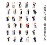 office culture achievement idea    Shutterstock . vector #307071557
