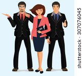 business people group.... | Shutterstock .eps vector #307076045
