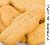 Gingerbread - Gingerbread man Plain gingerbread man close up. - stock photo