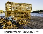 Lobster Traps And Pile Of Line...