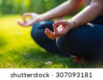 Постер, плакат: Yoga meditation in park