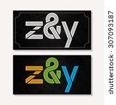 letter z   y logo alphabet...   Shutterstock .eps vector #307093187