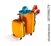 baggage ready for travel....   Shutterstock . vector #307098179