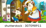 cartoon scene   illustration...   Shutterstock . vector #307098911