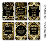 set of vector card templates in ... | Shutterstock .eps vector #307102961