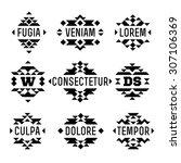 set aztec native ethnic... | Shutterstock .eps vector #307106369