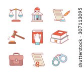 legal  law  lawyer and court... | Shutterstock .eps vector #307113095