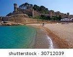 castle view in tossa de mar ...   Shutterstock . vector #30712039
