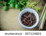 subterranean ants in iron bowl  ... | Shutterstock . vector #307124801