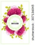 romantic invitation. wedding ... | Shutterstock .eps vector #307136045