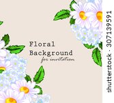 invitation with floral... | Shutterstock .eps vector #307139591