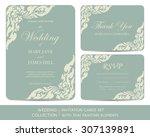 wedding invitation cards set... | Shutterstock .eps vector #307139891
