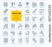 outline web icons set  ... | Shutterstock .eps vector #307142225