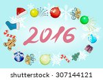 new year theme. | Shutterstock .eps vector #307144121