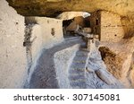 ruins of  gila cliff dwellings... | Shutterstock . vector #307145081
