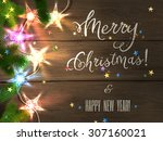 holiday design   merry... | Shutterstock .eps vector #307160021