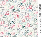 Vector Pattern Of Fashion Shoe...