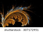 fractal feather background... | Shutterstock . vector #307172951